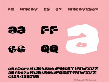 FZ WACKY 25 EX WACKY25EX Version 1.000 Font Sample