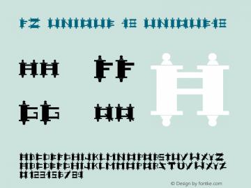 FZ UNIQUE 48 UNIQUE48 Version 1.000 Font Sample