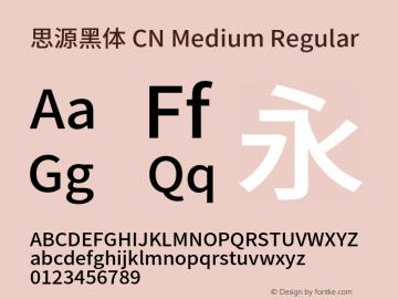 思源黑体 CN Medium Regular Version 1.004;PS 1.004;hotconv 1.0.82;makeotf.lib2.5.63406图片样张