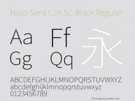 Noto Sans CJK SC Black Regular Version 1.004;PS 1.004;hotconv 1.0.82;makeotf.lib2.5.63406图片样张