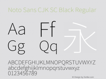 Noto Sans CJK SC Black Regular Version 1.004;PS 1.004;hotconv 1.0.82;makeotf.lib2.5.63406图片样张