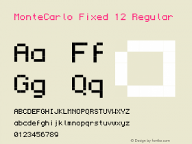MonteCarlo Fixed 12 Regular 2010/07/11 Font Sample