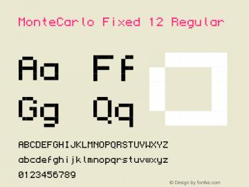 MonteCarlo Fixed 12 Regular 2010/07/11 Font Sample
