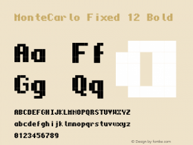 MonteCarlo Fixed 12 Bold 2010/07/11 Font Sample