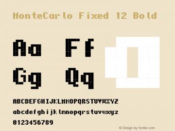 MonteCarlo Fixed 12 Bold 2010/07/11 Font Sample