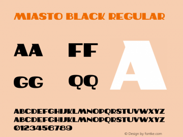 Miasto Black Regular Version 1.000;PS 001.000;hotconv 1.0.70;makeotf.lib2.5.58329 Font Sample