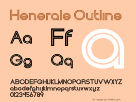 Henerale Outline 001.000 Font Sample