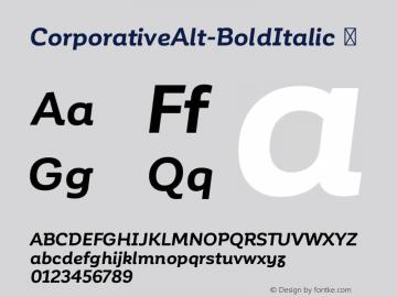 CorporativeAlt-BoldItalic ☞ Version 1.000;PS 001.000;hotconv 1.0.70;makeotf.lib2.5.58329;com.myfonts.easy.latinotype.corporative.alt-bold-italic.wfkit2.version.4px3 Font Sample