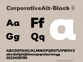 CorporativeAlt-Black ☞ Version 1.000;PS 001.000;hotconv 1.0.70;makeotf.lib2.5.58329;com.myfonts.easy.latinotype.corporative.alt-black.wfkit2.version.4pwR Font Sample