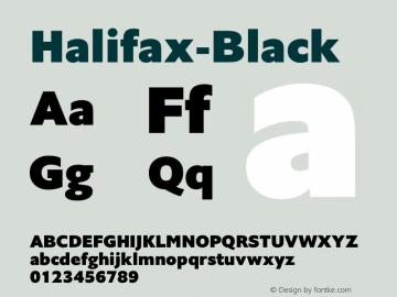 Halifax-Black ☞ Version 1.000;com.myfonts.easy.hoftype.halifax.black.wfkit2.version.4pvo Font Sample