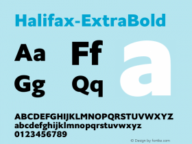 Halifax-ExtraBold ☞ Version 1.000;com.myfonts.easy.hoftype.halifax.extra-bold.wfkit2.version.4pvt Font Sample