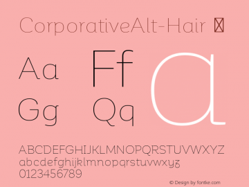 CorporativeAlt-Hair ☞ Version 1.000;PS 001.000;hotconv 1.0.70;makeotf.lib2.5.58329;com.myfonts.easy.latinotype.corporative.alt-hair.wfkit2.version.4px6 Font Sample