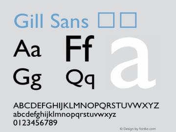 Gill Sans 斜体 9.0d7e8 Font Sample