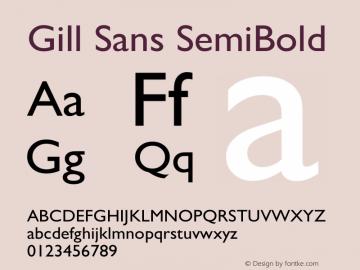 Gill Sans SemiBold 9.0d7e8 Font Sample