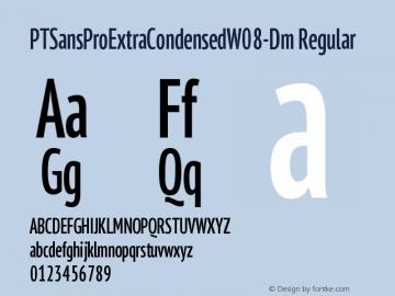 PTSansProExtraCondensedW08-Dm Regular Version 1.00图片样张