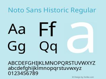 Noto Sans Historic Regular Version 0.70 Font Sample