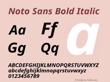 Noto Sans Bold Italic Version 1.05 Font Sample