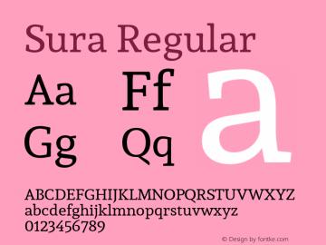Sura Regular Version 1.002图片样张