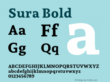 Sura Bold Version 1.002;PS 001.002;hotconv 1.0.70;makeotf.lib2.5.58329图片样张