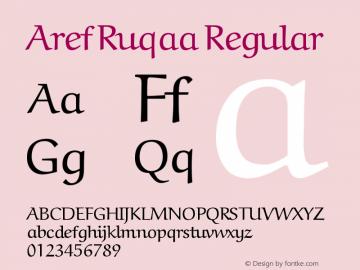 Aref Ruqaa Regular Version 000.001 Font Sample