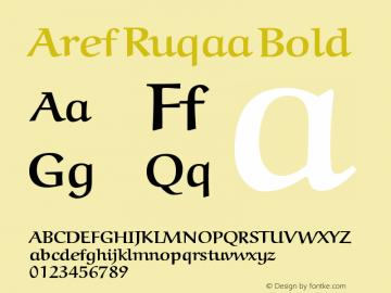 Aref Ruqaa Bold Version 000.001 Font Sample