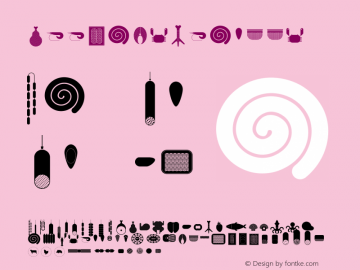 MeetandSeafood ☞ Version 1.000;com.myfonts.easy.baobaby.meat-and-seafood.regular.wfkit2.version.4hCr图片样张