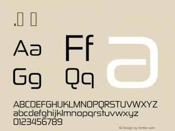 .  Version 5.000 Font Sample