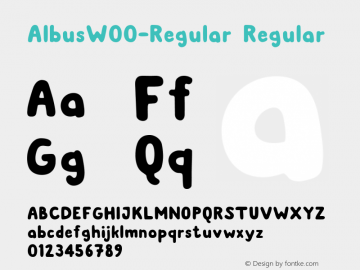 AlbusW00-Regular Regular Version 1.00图片样张