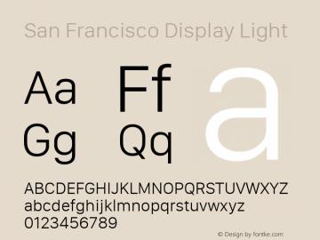 San Francisco Display Light 10.0d27e2--BETA Font Sample