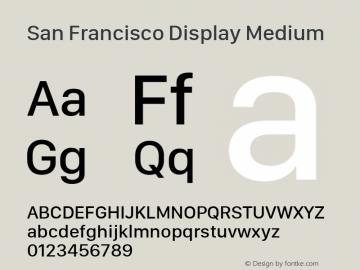 San Francisco Display Medium 10.0d27e2--BETA Font Sample
