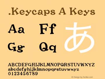 .Keycaps A Keys 10.0d12e1 Font Sample