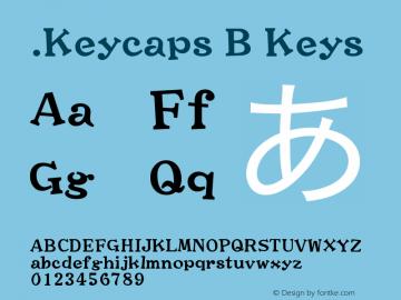 .Keycaps B Keys 10.0d12e1 Font Sample