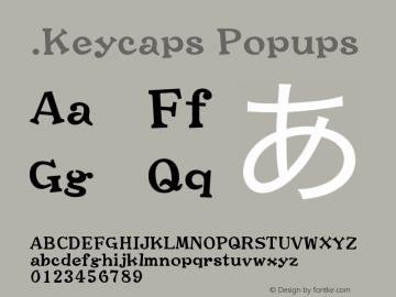 .Keycaps Popups 10.0d12e1 Font Sample