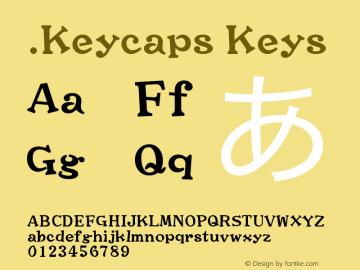 .Keycaps Keys 10.0d1e1 Font Sample