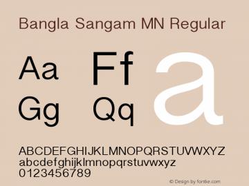 Bangla Sangam MN Regular 10.0d8e1 Font Sample