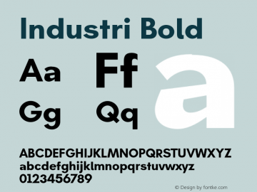 Industri Bold Version 1.000 Font Sample