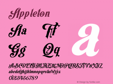 Appleton ☞ 1.000;com.myfonts.decade-typefoundry.appleton.regular.wfkit2.44yH Font Sample