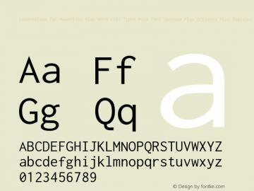 Inconsolata for Powerline Plus Nerd File Types Plus Font Awesome Plus Octicons Plus Pomicons Medium Version 0.4.0图片样张