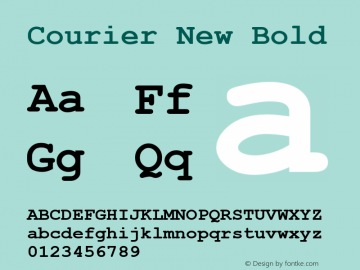 Courier New Bold Version 6.85图片样张