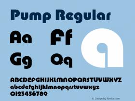 Pump Regular Version 2.0 Font Sample