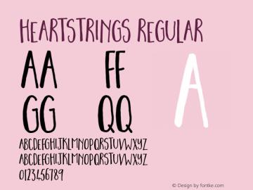 Heartstrings Font Family Heartstrings-Uncategorized Typeface-Fontke com