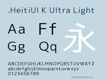.HeitiUI K Ultra Light 10.0d4e2图片样张