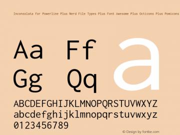 Inconsolata for Powerline Plus Nerd File Types Plus Font Awesome Plus Octicons Plus Pomicons Medium Version 001.010;Nerd Fonts 0图片样张
