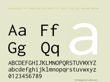 Inconsolata for Powerline Plus Nerd File Types Plus Font Awesome Medium Version 001.010;Nerd Fonts 0图片样张