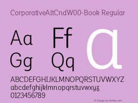 CorporativeAltCndW00-Book Regular Version 1.00 Font Sample
