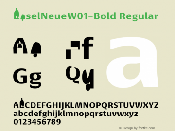 BaselNeueW01-Bold Regular Version 1.00 Font Sample