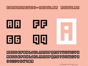 BorgnineW00-Regular Regular Version 1.20图片样张