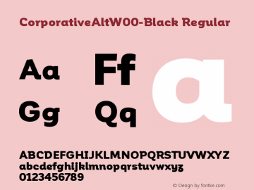 CorporativeAltW00-Black Regular Version 1.00 Font Sample