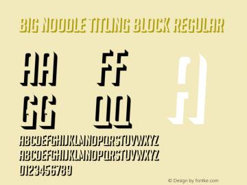 Big Noodle Titling Block Regular Version 1.000图片样张