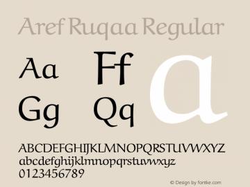 Aref Ruqaa Regular Version 0.2 Font Sample